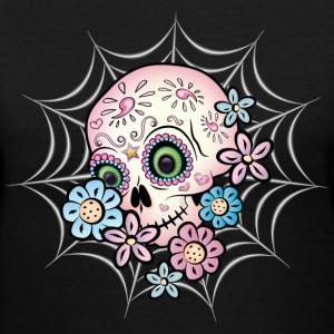 Sweet Sugar Skull Women's T-Shirts - Women's V-Neck T-Shirt