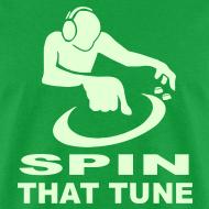 Design ~ DJ Spin that Tune raver t-shirt Glow in the dark