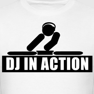DJ in action rave t-shirt - Men's T-Shirt