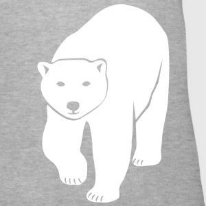 polar bear ice black white penguin knut climate change stop global warming Women's T-Shirts - Women's V-Neck T-Shirt