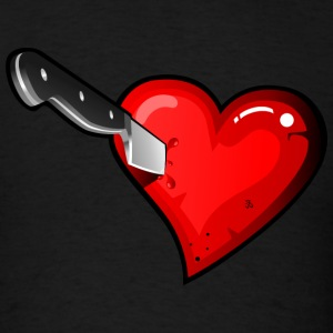 Stabbed in the Heart HD DESIGN T-Shirts - Men's T-Shirt
