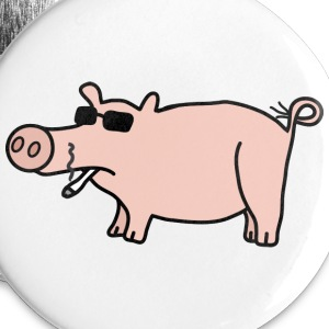 Cool Pig Buttons - Large Buttons
