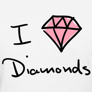 I love diamonds Women's T-Shirts - Women's T-Shirt