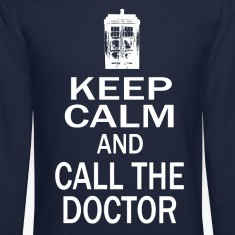 Keep Calm and Call The Doctor Long Sleeve Shirts