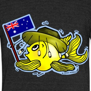 Australian Flag Fish funny OZI fish - Unisex Tri-Blend T-Shirt