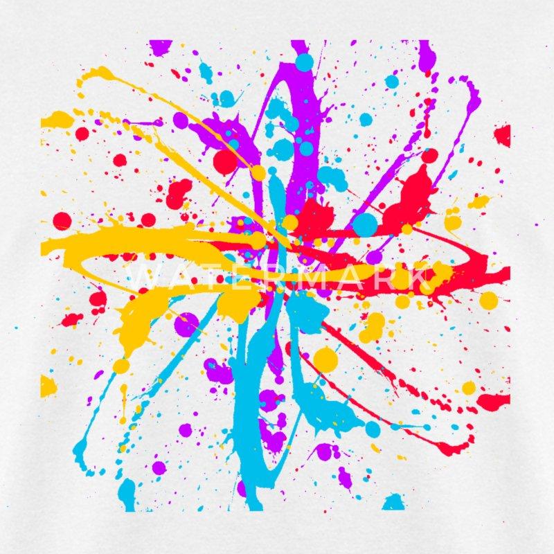 colors paint splatter unisex graffiti spatter graphic design. Black Bedroom Furniture Sets. Home Design Ideas