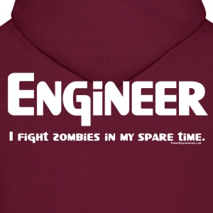 White Engineer Zombie Fighter Hoodies - Men's Hoodie
