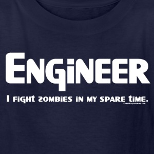 White Engineer Zombie Fighter Kids' Shirts - Kids' T-Shirt