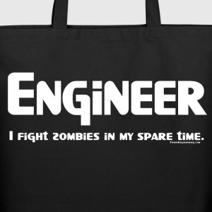 White Engineer Zombie Fighter Bags  - Eco-Friendly Cotton Tote