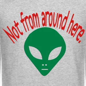 darr alien not from here Long Sleeve Shirts - Crewneck Sweatshirt