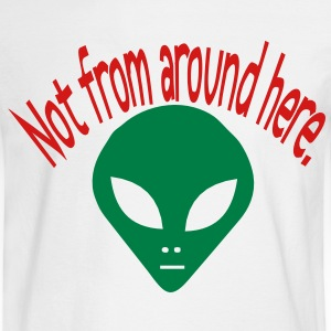 darr alien not from here Long Sleeve Shirts - Men's Long Sleeve T-Shirt