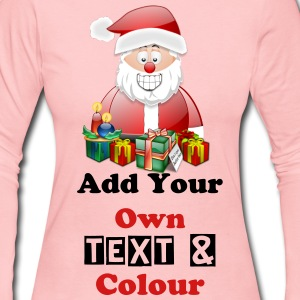 Father Christmas Merry Christmas With Presents - Women's Long Sleeve Jersey T-Shirt