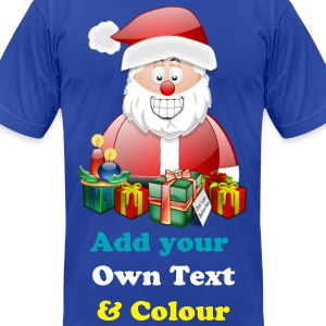 Father Christmas Merry Christmas With Presents - Men's T-Shirt by American Apparel