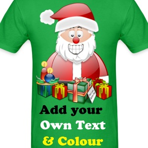 Father Christmas Merry Christmas With Presents - Men's T-Shirt