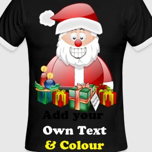 Father Christmas Merry Christmas With Presents - Men's Ringer T-Shirt