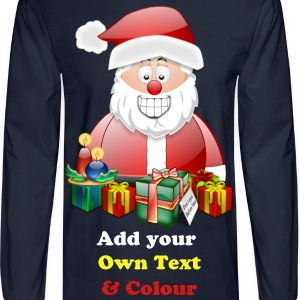 Father Christmas Merry Christmas With Presents - Men's Long Sleeve T-Shirt