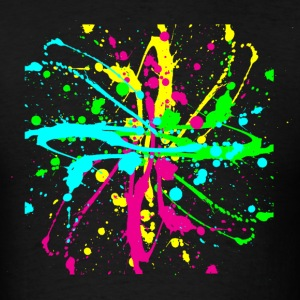Colors Paint Splatter - Unisex Graffiti Spatter Graphic Design - Multicolor  - Men's T-Shirt