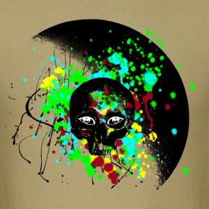 Alien Skull Graffiti Graphic - Unisex Paint Splatter Design - Men's T-Shirt