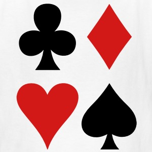 all four suits club diamond heart and spade poker design Kids' Shirts - Kids' T-Shirt