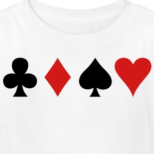all four poker spade diamond club and heart suits in a row Kids' Shirts - Kids' T-Shirt