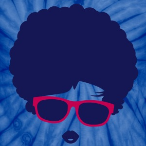 A girl with afro hairstyle and sunglasses T-Shirts - Unisex Tie Dye T-Shirt