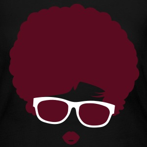 A girl with afro hairstyle and sunglasses Long Sleeve Shirts - Women's Long Sleeve Jersey T-Shirt