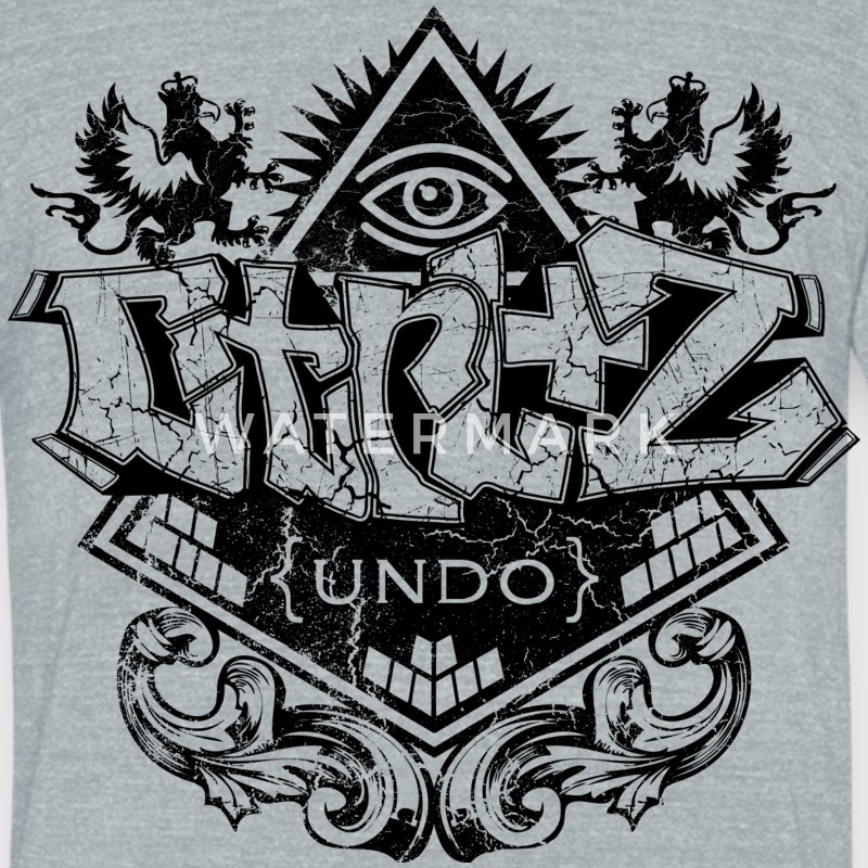 cool design graffiti by Control Z Clothing T-Shirts - Unisex Tri-Blend T-Shirt by American Apparel