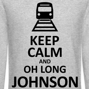 Keep Calm and Oh Long Johnson (Black) - Long Sleeve - Crewneck Sweatshirt