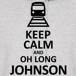 Keep Calm and Oh Long Johnson (Black) - Hoodie - Men's Hoodie