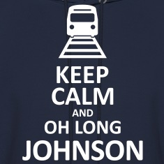 Keep Calm and Oh Long Johnson (White) - Hoodie