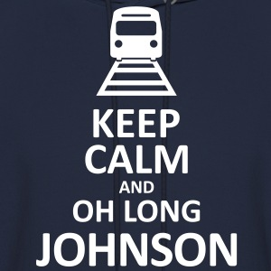 Keep Calm and Oh Long Johnson (White) - Hoodie - Men's Hoodie