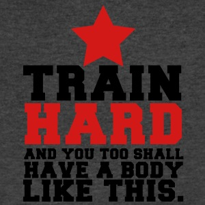 TRAIN HARD and you too shall have a BODY LIKE THIS! T-Shirts - Men's V-Neck T-Shirt by Canvas