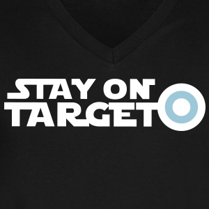 STAY ON TARGET star centre awesome! T-Shirts - Men's V-Neck T-Shirt by Canvas