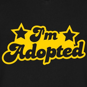 I'm Adopted with cute little baby stars T-Shirts - Men's V-Neck T-Shirt by Canvas