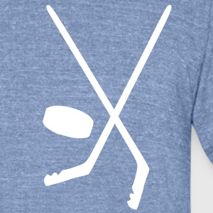 Ice hockey Men's Tri-Blend Vintage T-Shirt by American Apparel - Unisex Tri-Blend T-Shirt by American Apparel