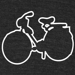 Bicycle Men's Tri-Blend Vintage T-Shirt by American Apparel - Unisex Tri-Blend T-Shirt