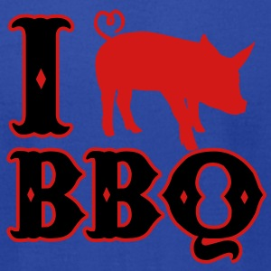 I love BBQ T-Shirts - Men's T-Shirt by American Apparel