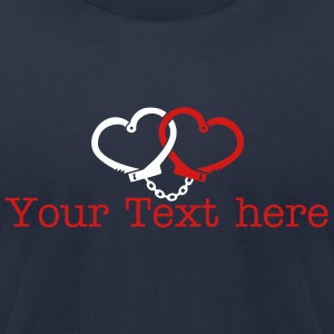 love handcuffs T-Shirts - Men's T-Shirt by American Apparel