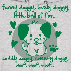 funny doggy, lovely doggy, little ball of fur Hoodies