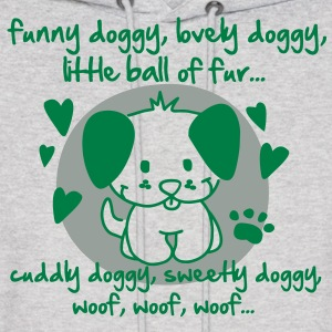 funny doggy, lovely doggy, little ball of fur Hoodies - Men's Hoodie