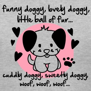 funny doggy, lovely doggy, little ball of fur Women's T-Shirts - Women's V-Neck T-Shirt