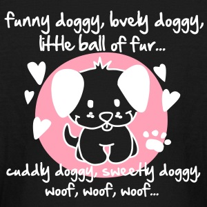 funny doggy, lovely doggy, little ball of fur Kids' Shirts - Kids' Long Sleeve T-Shirt