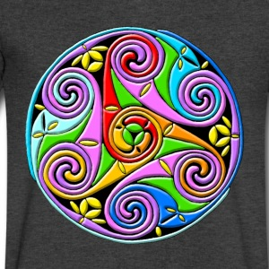Celtic Illumination – Trinity Swirl I - Men's V-Neck T-Shirt by Canvas