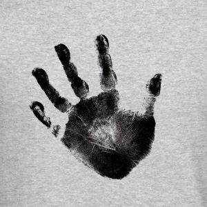 Hand Print - Black- Graphic Design Picture Handprint - Crewneck Sweatshirt