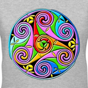 Celtic Illumination – Trinity Swirl I - Women's V-Neck T-Shirt