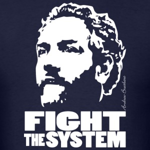 Breitbart - Fight the System - navy - Men's T-Shirt
