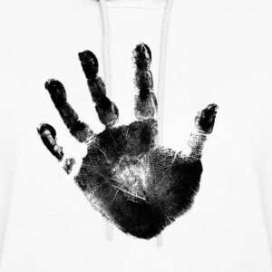 Black Handprint Graphic Design Hoodie Sweater For Women and Teen Girls - Women's Hoodie