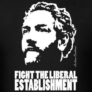 Breitbart - Fight the Liberal Establishment - black - Men's T-Shirt