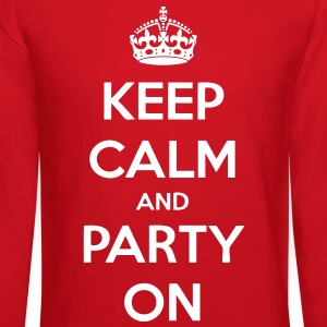 Keep Calm And Party On Long Sleeve Shirts - stayflyclothing.com - Crewneck Sweatshirt