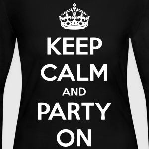 Keep Calm And Party On Long Sleeve Shirts - stayflyclothing.com - Women's Long Sleeve Jersey T-Shirt